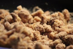 Gekrumbelde koekjes