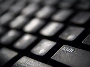 Zwart en onscherp keyboard