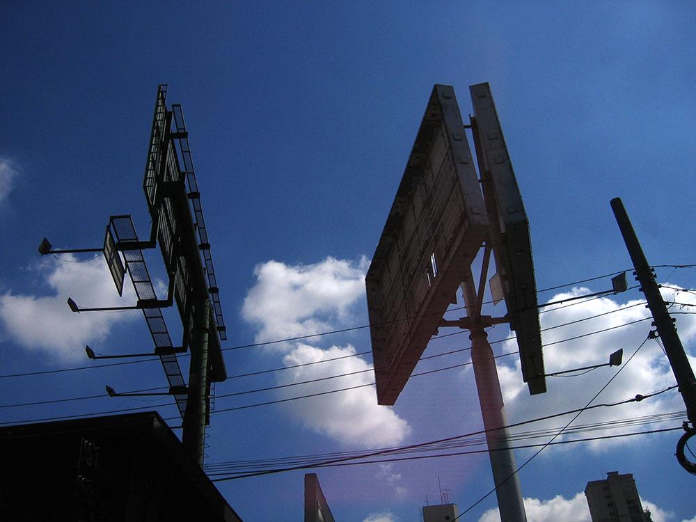 Empty billboards at São Paulo