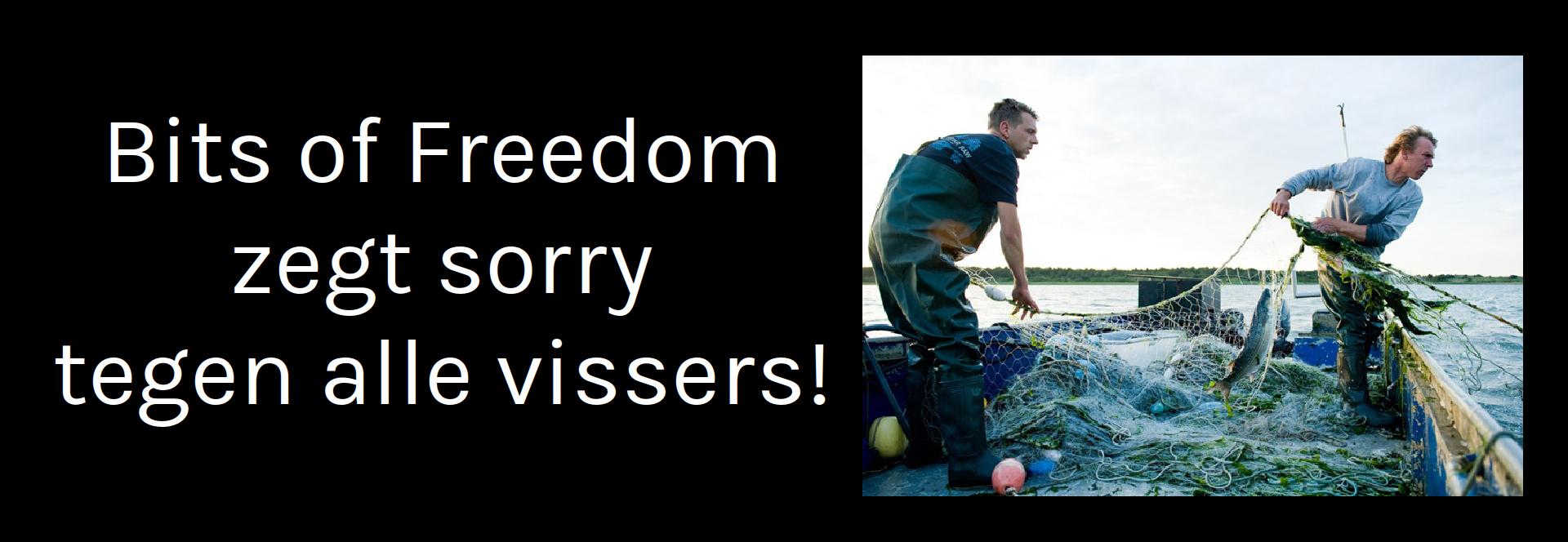 Bits of Freedom zegt sorry tegen tegen de vissers!