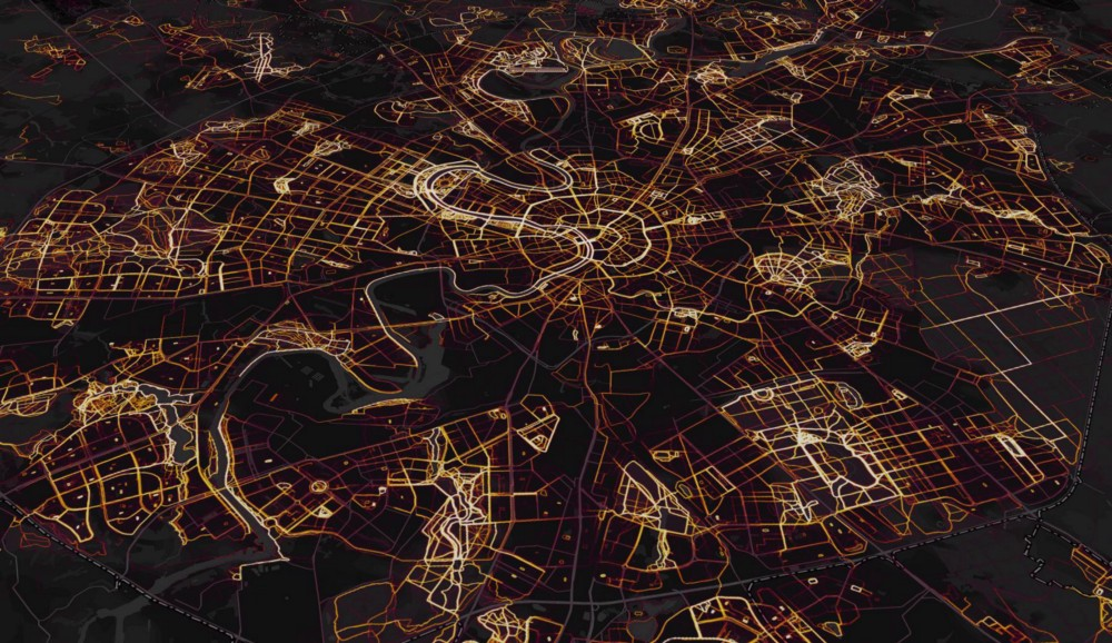 A heatmap of Moscow