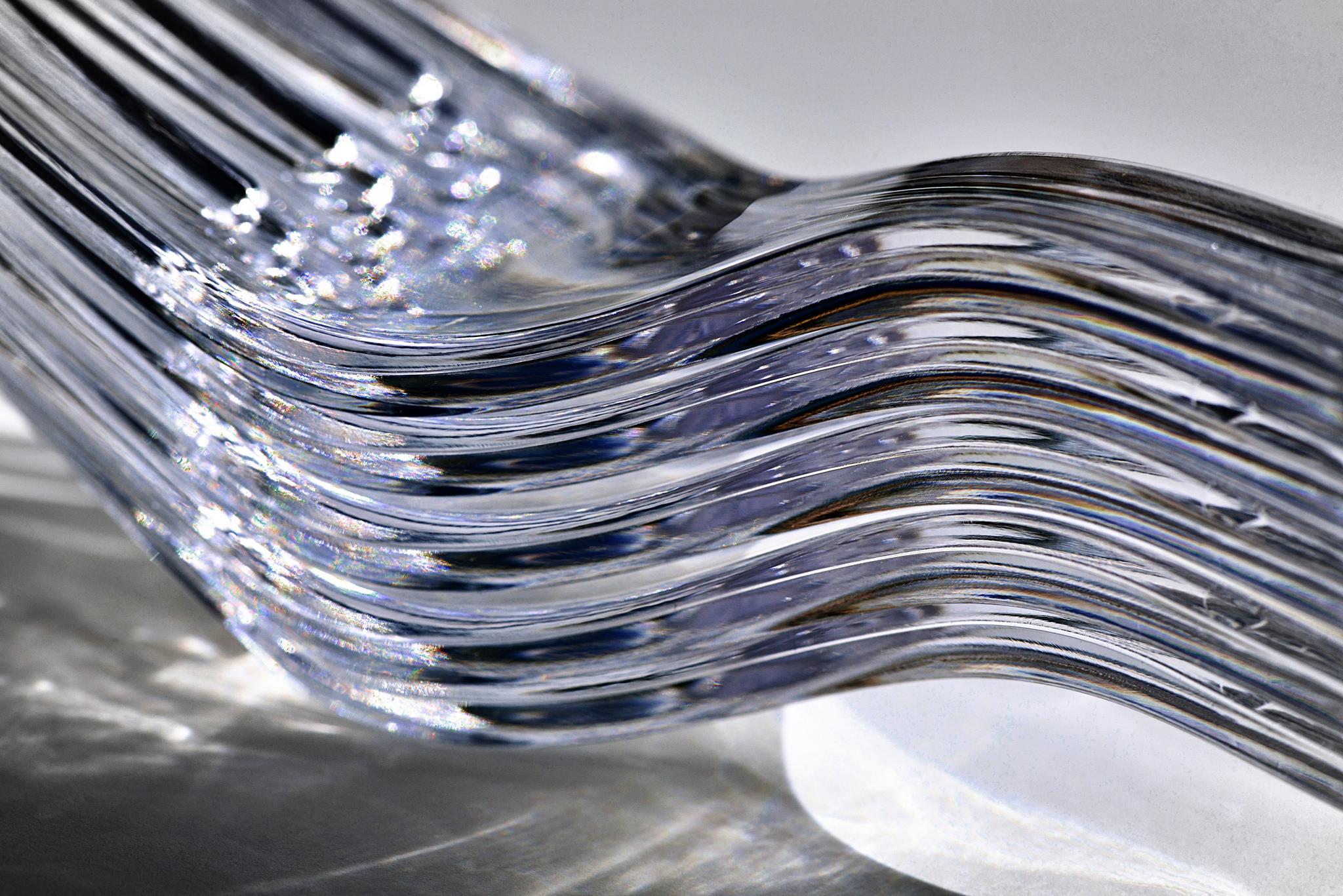 5 gestapelde plastic vorken