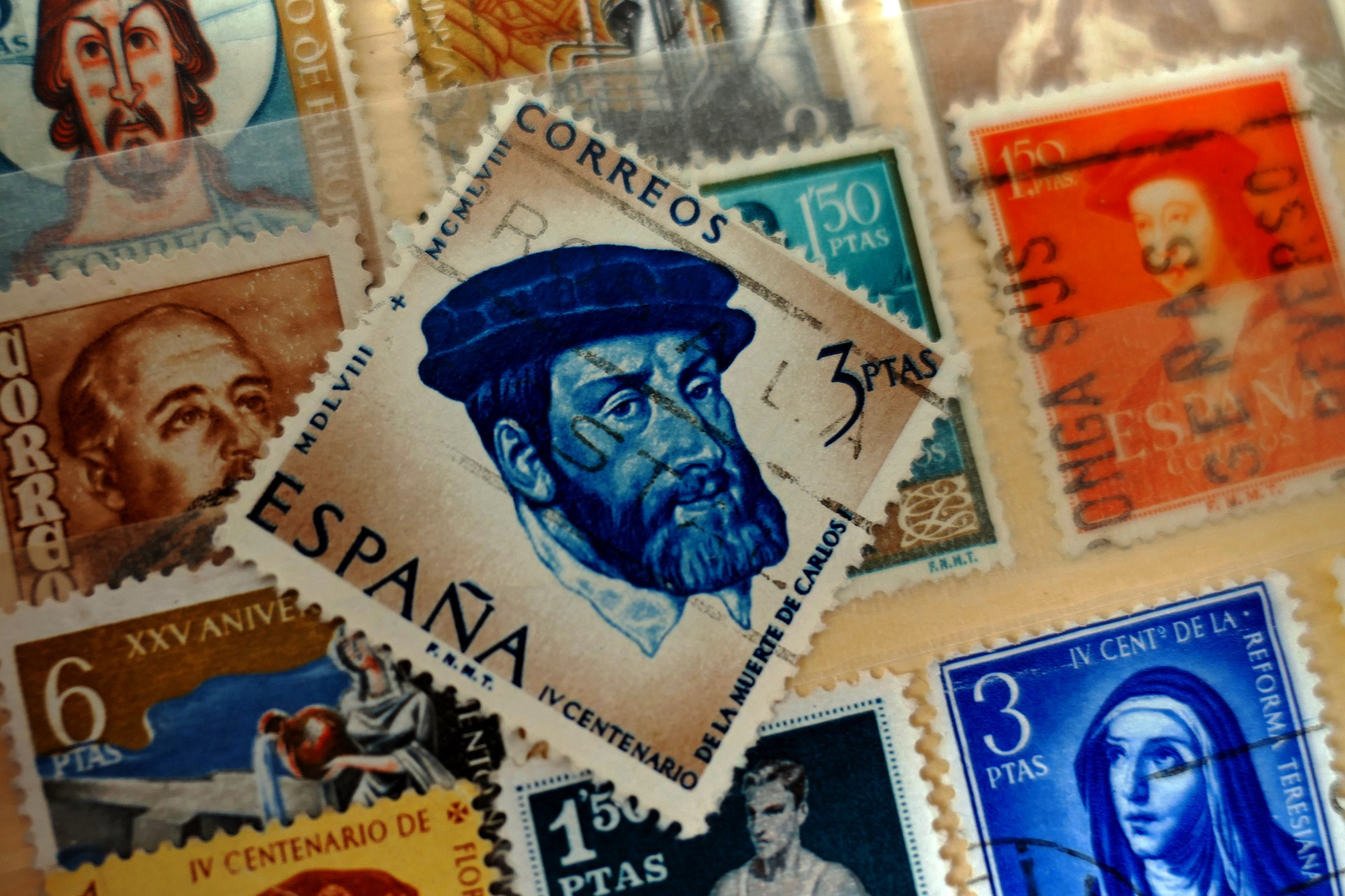 Oude Spaanse postzegels
