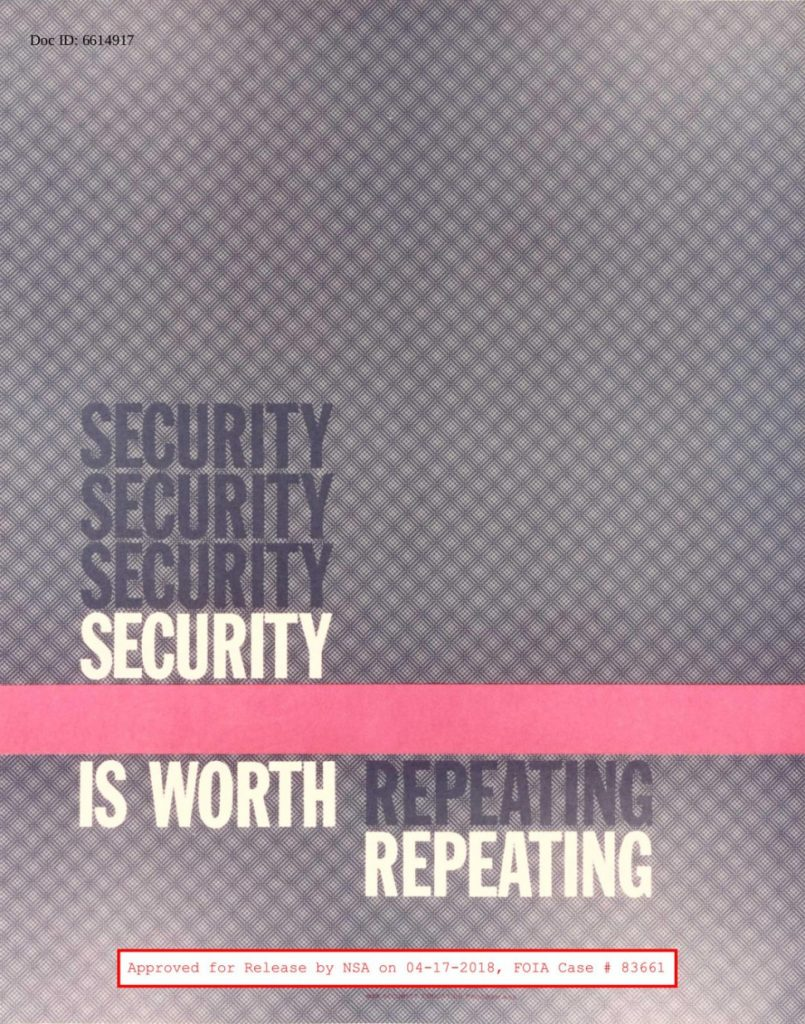 Security security security security is worth repeating repeating