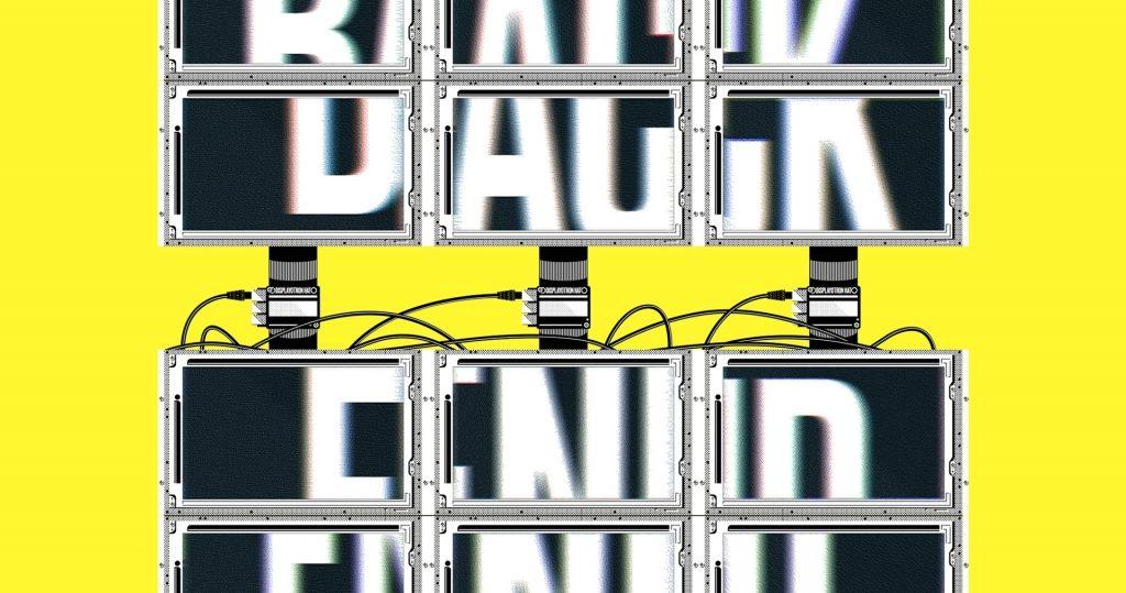 Poster voor Back End tentoonstelling van Dries Depoorter bij MU