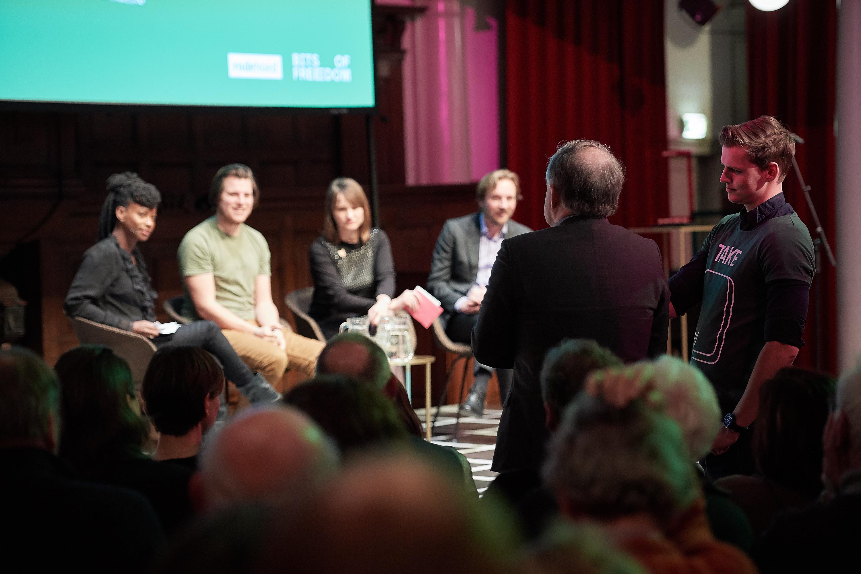 Monique Steijns, Joost Plattel, Linda Vermeulen en Hans de Zwart. Foto: Jeroen Mooijman (CC BY-NC-ND 4.0)