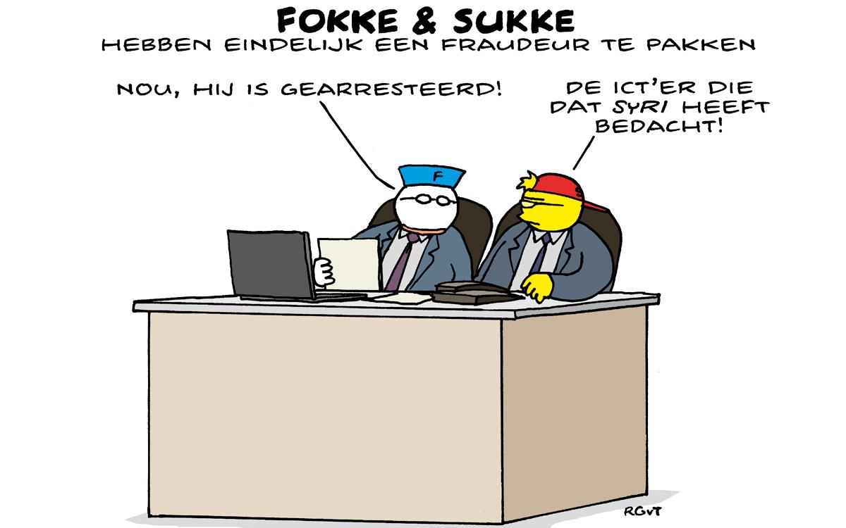 Fokke en Sukke hebben eindelijk een fraudeur te pakken: De ICT'er die SyRI heeft bedacht.