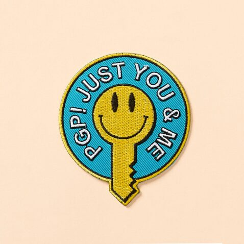 foto van 'PGP just you and me' patch