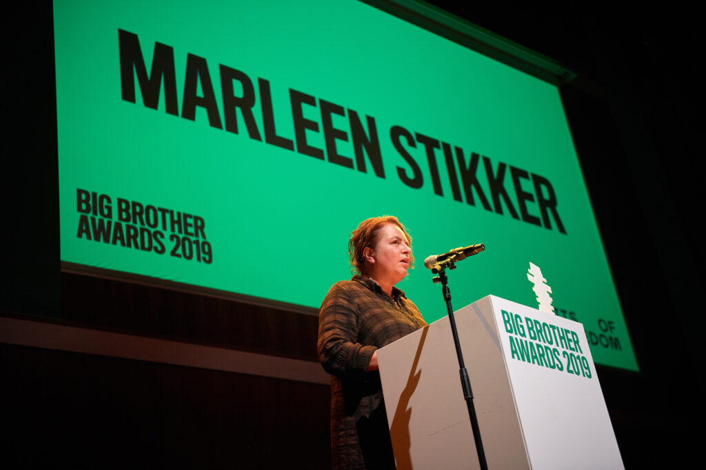 Marleen Stikker - Big Brother Awards 2019