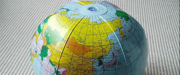 Afbeelding gebaseerd op Globe van stevecadman, uitgebracht onder een Creative Commons Attribution 2.0 Generic licentie.