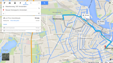 No Google route through the canals