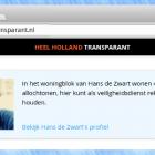 Schermafdruk van de 'Heel Holland Transparant' website.
