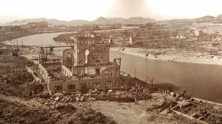 Hiroshima right after the atomic bomb had exploded