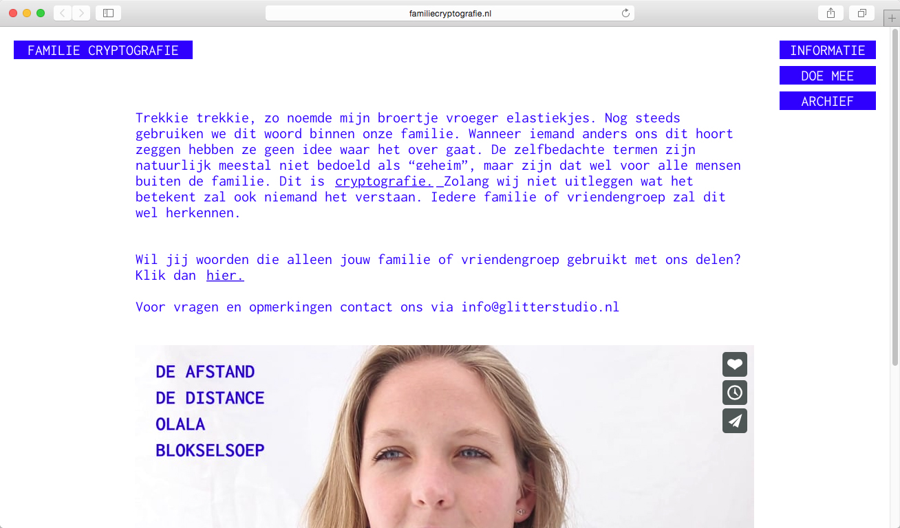 Familie cryptografie: Crypto Design project
