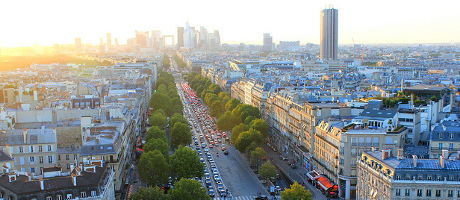Image based on Paris views from Arc de Triomphe by Cameron Wears (license: CC BY-NC 2.0)